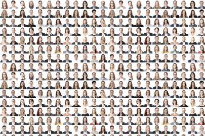 Sammlung kleiner Porträts aller Mitarbeiterinnen und Mitarbeiter der SFG