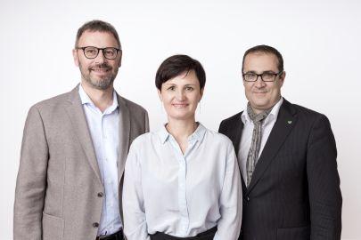 Prokurist Gerd Holzschlag, Prokuristin Gerlinde Siml, Geschäftsführer Christoph Ludwig