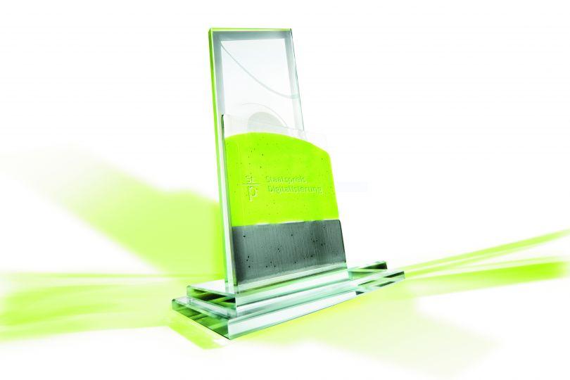 Trophäe Staatspreis Digitalisierung 2020