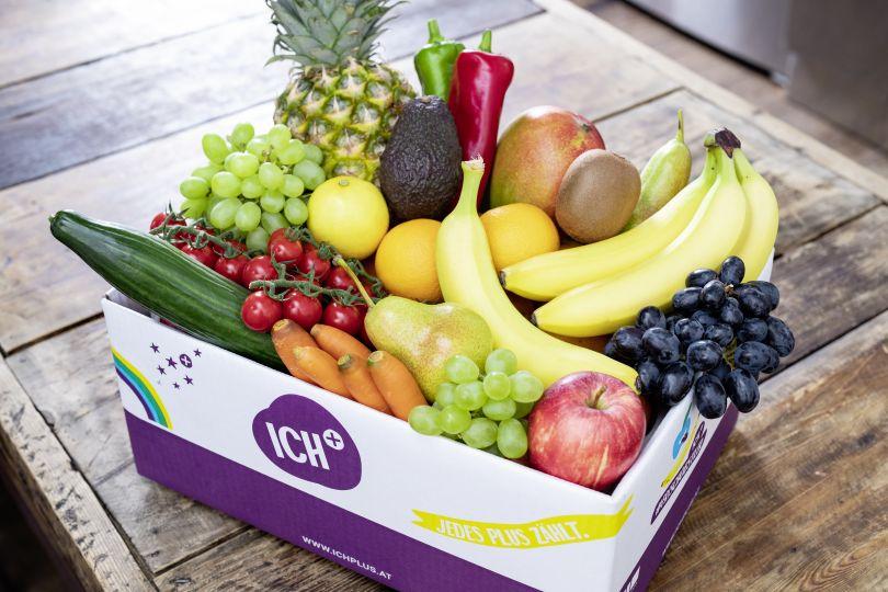Kiste mit Obst