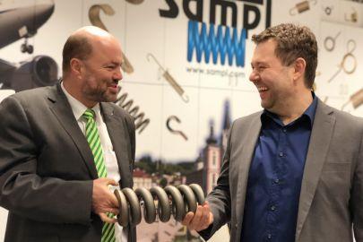 Hugo Sampl und Roland Harrer