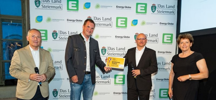 Christian Purrer (Energie Steiermark), Christian Sixt und Rudolf Elsenwenger (KAGes) und Ursula Lackner